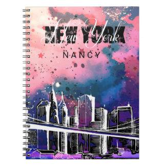 Monogramm, Skizze, New- YorkSkyline Spiral Notizblock
