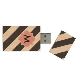 Monogramm-Stängel USB-Blitz-Antrieb Holz USB Stick
