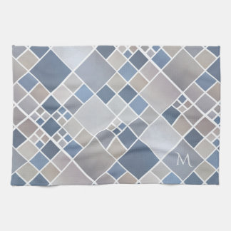 Monogramm-Strand-geometrisches Muster-Geschirrtuch Küchentuch