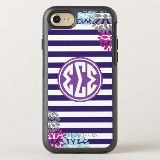Monogramm-Streifen-Muster des Sigma-Sigma-Sigma-| OtterBox Symmetry iPhone 7 Hülle