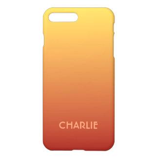 Monogramm-Telefon-Hüllen der gelben roten Steigung iPhone 7 Plus Hülle