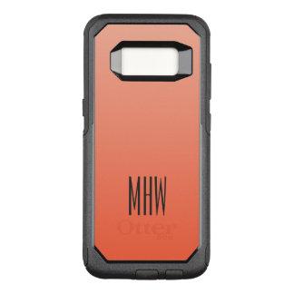 Monogramm-Telefon-Hüllen der Pfirsich-Steigung OtterBox Commuter Samsung Galaxy S8 Hülle