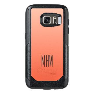 Monogramm-Telefon-Hüllen der Pfirsich-Steigung OtterBox Samsung Galaxy S7 Hülle