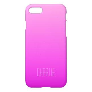 Monogramm-Telefon-Hüllen der rosa Steigung iPhone 7 Hülle
