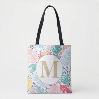 Monogramm-tropische bunte Collagen-Taschen-Tasche Tasche