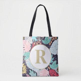 Monogramm-tropische Tasche