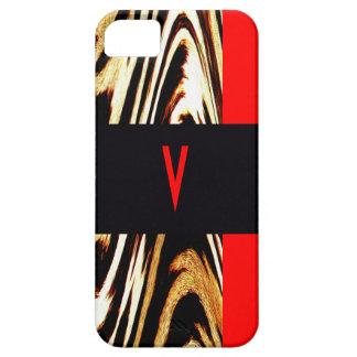 Monogramm-Zickzack Streifen, die iPhone 5 Etui