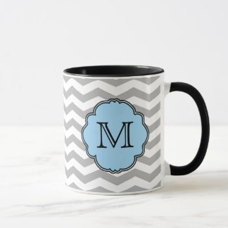 Monogramm-Zickzack Zickzack-Tasse Tasse