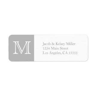 MonogrammAdressen-Etikett