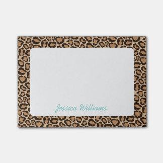 Monogramme de coutume d'empreinte de léopard