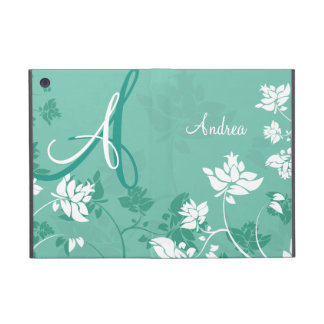 Monogramme floral abstrait coques iPad mini