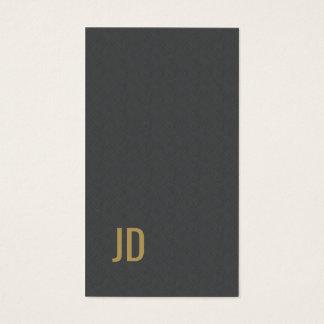 Monogramme gris d'or de Faux de texture élégante Cartes De Visite