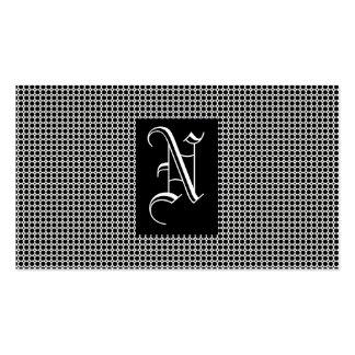 Monogramme noir carte de visite standard