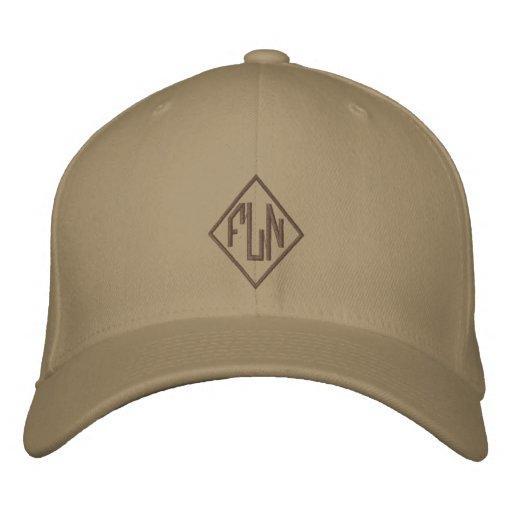Monogramme personnalisé casquettes brodées