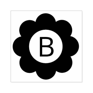 Monogramme simple de fleur