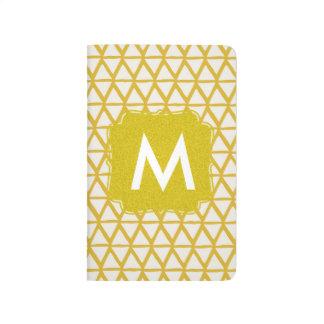 Monogrammgoldnotizbuch personalisiert mit Namen Taschennotizbuch