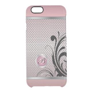 Monogrammrosa Tourmaline-Silber-Masche Durchsichtige iPhone 6/6S Hülle
