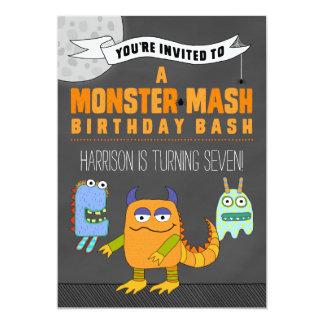 Monster-Brei GEBURTSTAG Schlag-Einladungen 12,7 X 17,8 Cm Einladungskarte