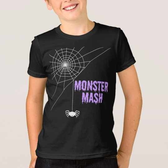 Monster-Brei Halloween Spiderweb T-Shirt