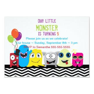 Monster einer guten Zeit-Geburtstags-Party 12,7 X 17,8 Cm Einladungskarte