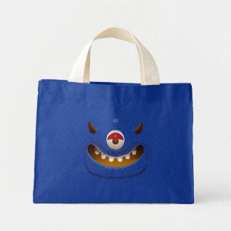 Monster-Gesicht Mini Stoffbeutel
