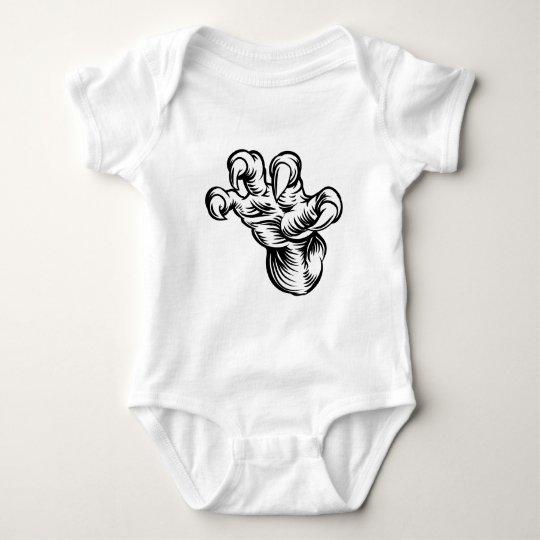 Monster-Greifertalons-Hand Baby Strampler