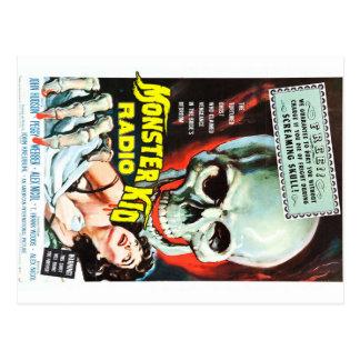 Monster-Kinderradio trifft den schreienden Schädel Postkarte