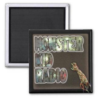 Monster-Kinderradio-Zeichen-Magnet Quadratischer Magnet