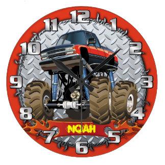 Monster-LKW Personalizable Jungen-Raum-Uhr Uhr