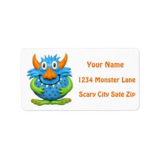 Monster-Party Adressaufkleber