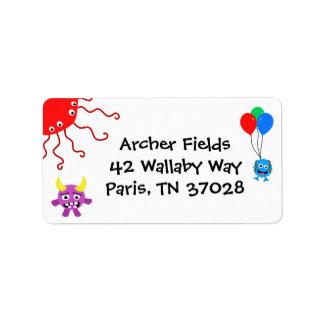 Monster-Party-Adressen-Etiketten Adress Aufkleber