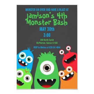 Monster-Schlag-Kindergeburtstag-Party Einladungen