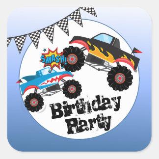 Monster Trucks Kids Boy Birthday Party Stickers