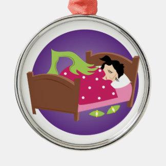 Monster unter Bett Silbernes Ornament