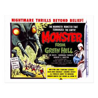 Monster von der grünen Hölle Postkarte