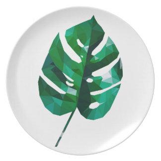 Monstera Platte Teller