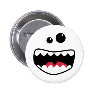 Monstergesicht Runder Button 5,7 Cm