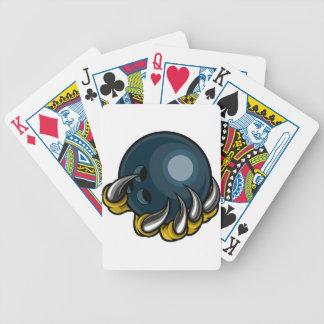 Monstertiergreifer, der zehn Button-Bowlings-Ball Bicycle Spielkarten