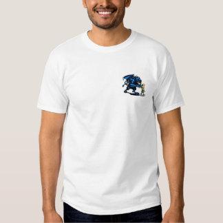 Monstre bleu de rampement t-shirts