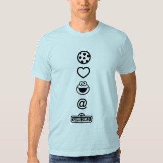 Monstre de biscuit d'amour de biscuit t shirts