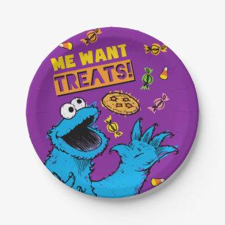 Monstre de biscuit - je veut des festins assiettes en papier