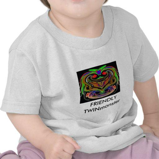 Monstres JUMEAUX de HALLOWEEN T-shirt