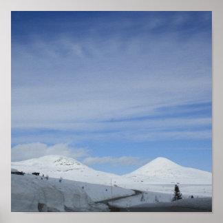 Montain d'impression de toile de la Norvège Affiches