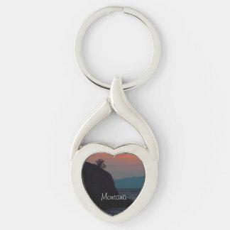 Montana-Andenken-Herz-Schlüsselring Schlüsselanhänger