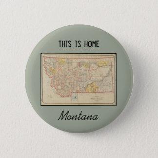 Montana-Zuhause Runder Button 5,1 Cm