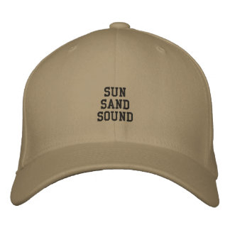 Montauk Sun, Sand und Ton Bestickte Kappe