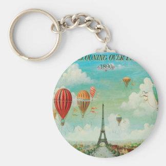Monter en ballon au-dessus de Paris Porte-clef