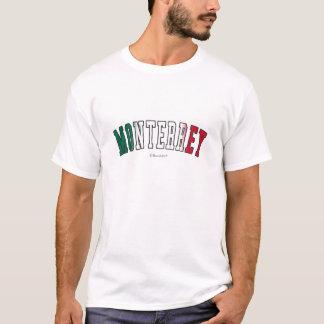 Monterrey in den Mexiko-Staatsflaggefarben T-Shirt