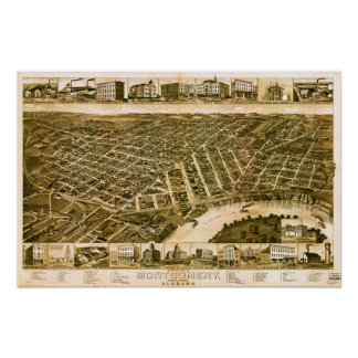 Montgomery Alabama 1887 Poster