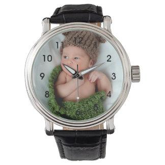 Montre-bracelet personnalisée de photo montres bracelet